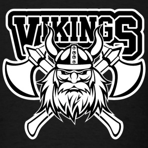 Vikings Axe Crossed T-Shirts - Men's T-Shirt