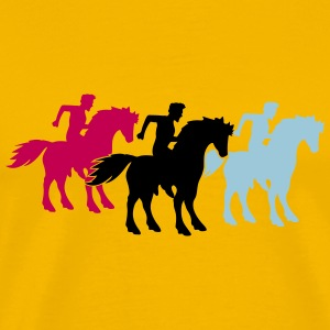 race team buddies 3 equestrian rider riding ross k T-Shirts - Men's Premium T-Shirt