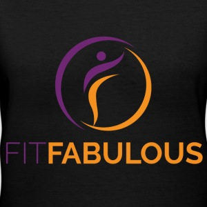 Be Fit Fabulous - Women's V-Neck T-Shirt