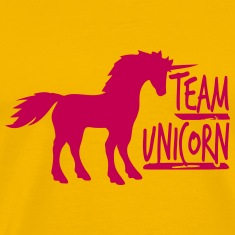 team unicorn party cool fun unicorn pink gay gay T-Shirts