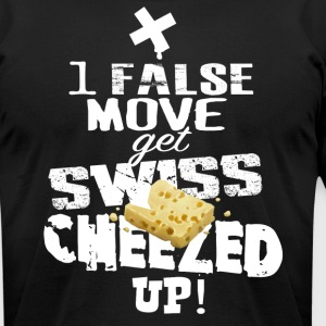 Swiss Cheeze - Men's T-Shirt by American Apparel