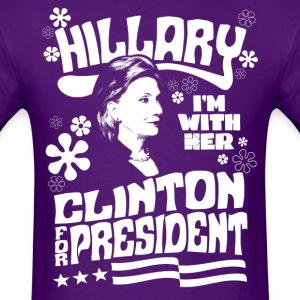 Hillary Clinton I'M WITH HER t shirt - Men's T-Shirt