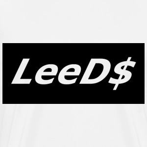 Simple LeeD$ T-Shirt White - Men's Premium T-Shirt