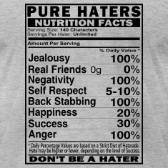 Haters Nutrition Facts T-Shirts