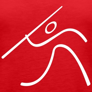 Athletics Javelin Throw Pictogram Tanks - Women's Premium Tank Top