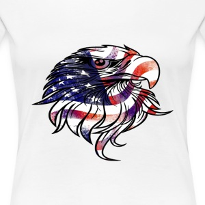 American USA National Flag Eagle Independence Day  - Women's Premium T-Shirt