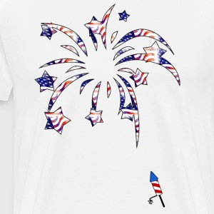 Fireworks America USA National Flag Independence D - Men's Premium T-Shirt