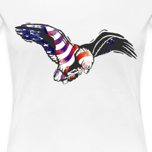 American Eagle USA National Flag Independence Memo - Women's Premium T-Shirt