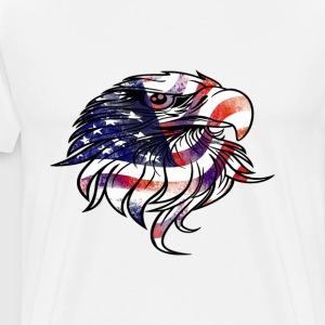 American USA National Flag Eagle Independence Day  - Men's Premium T-Shirt