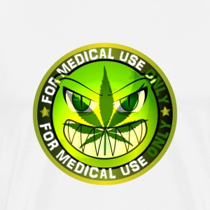 Funny Marijuana Cannabis Weed Sign Smiling Green M - Men's Premium T-Shirt