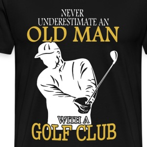 Golf Club Old Man Shirt - Men's Premium T-Shirt
