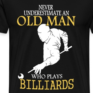 Billiards Old Man Shirt - Men's Premium T-Shirt