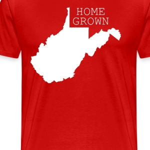 West Virginia Home Grown State T-shirt T-Shirts - Men's Premium T-Shirt