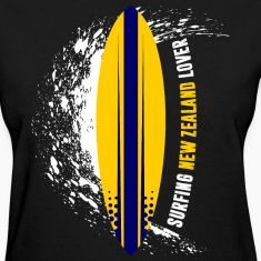 Surfing New Zealand Lover Women's T-Shirts
