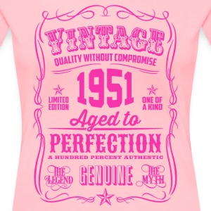 Vintage 1951 Aged to Perfection 65th Birthday - Women's Premium T-Shirt