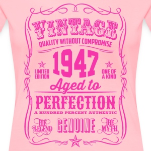Vintage 1947 Aged to Perfection 69th Birthday - Women's Premium T-Shirt