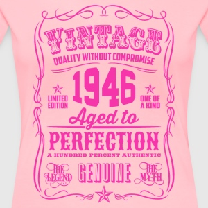 Vintage 1946 Aged to Perfection 70th Birthday - Women's Premium T-Shirt