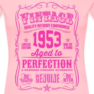 Vintage 1953 Aged to Perfection 63th Birthday - Women's Premium T-Shirt