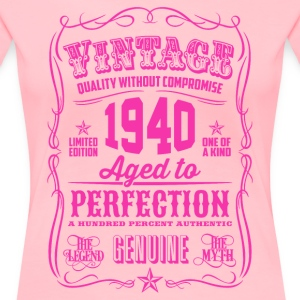 Vintage 1940 Aged to Perfection 76th Birthday - Women's Premium T-Shirt