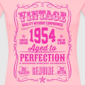 Vintage 1954 Aged to Perfection 62th Birthday - Women's Premium T-Shirt
