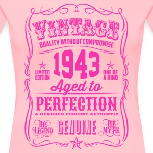 Vintage 1943 Aged to Perfection 73th Birthday - Women's Premium T-Shirt