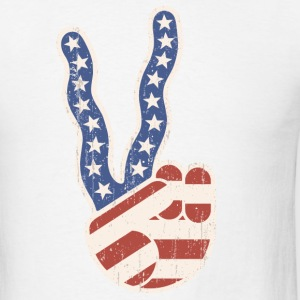 Wavy Peace Flag Hand T-Shirts - Men's T-Shirt