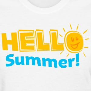 Kreative In Kinder Hello Summer! Women's T-Shirts - Women's T-Shirt