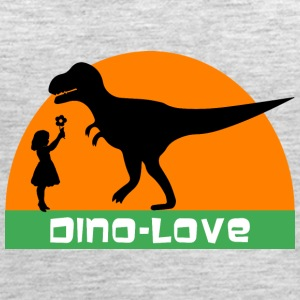 Dino and girl Tanks - Women's Premium Tank Top