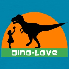 Dino and girl Women's T-Shirts