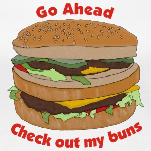 Go Ahead Check Out My Buns - Women's Premium T-Shirt