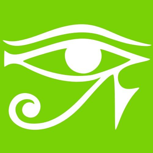 EYE of Horus/ Ra, reverse moon eye of Thoth/