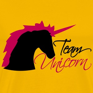 head team unicorn unicorn pink horse outline silho T-Shirts - Men's Premium T-Shirt