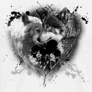 Heart Wolves - Men's Premium T-Shirt
