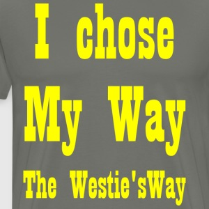 I chose My Way Yellow - Men's Premium T-Shirt
