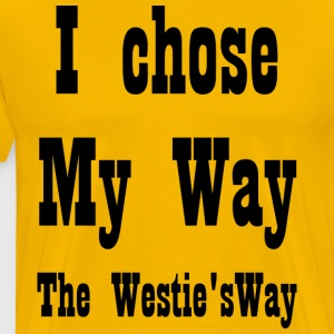 I chose My Way Black - Men's Premium T-Shirt
