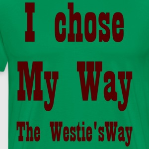 I chose My Way Brown - Men's Premium T-Shirt