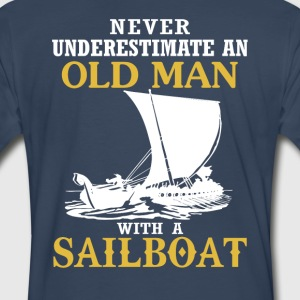 Old Man With A Sailboat - Men's Premium T-Shirt