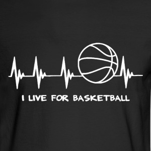 Basketball Heartbeat - Men's Long Sleeve T-Shirt