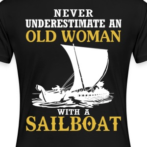 Old Woman With A Sailboat - Women's Premium T-Shirt
