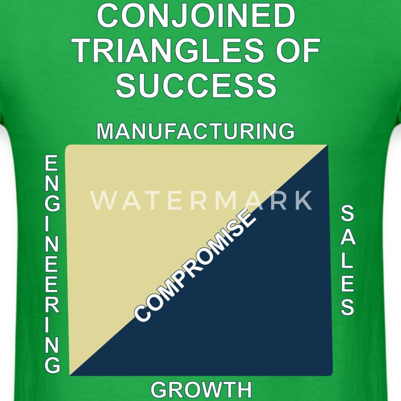 Conjoined triangles of success - Men's T-Shirt
