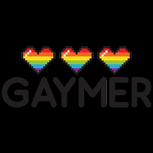 Gaymer Rainbow Hearts LGBT Pride