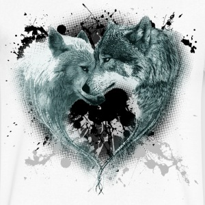 Heart Wolves - Men's V-Neck T-Shirt by Canvas