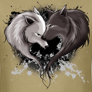 Heart Wolves - Men's T-Shirt