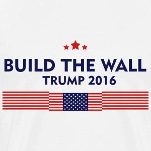 build the wall trump 2016 mens premium t shirt build wall