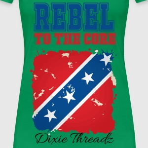 Dixie Threadz - Rebel to the core! Women's T-Shirts - Women's Premium T-Shirt