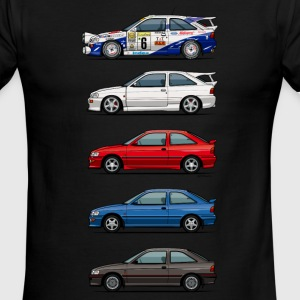 Stack of Ford Escort MkVs Coupes T-Shirts - Men's Ringer T-Shirt