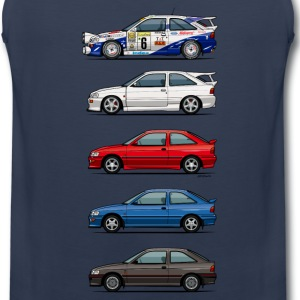 Stack of Ford Escort MkVs Coupes Sportswear - Men's Premium Tank
