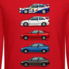 Stack of Ford Escort MkVs Coupes Long Sleeve Shirts
