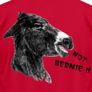 Democrat Donkey-Not Bernie ! - Men's T-Shirt by American Apparel