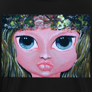 Bohemian Girl with Flower Wreath - Men's Premium T-Shirt